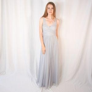 BHLDN Hitherto Fleur Dress Fog Lace Bridesmaid
